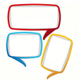 Colorful speech bubble frames vector image