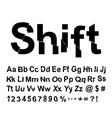 Abstract shift font vector image vector image