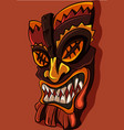 african tiki aztec mask with sharp teeth vector image vector image