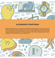 alzheimers disease concept banner template in line vector image vector image