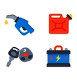 Auto transport motorist icons vector image vector image