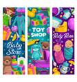 bacare toys shop cartoon kids stuff vector image vector image