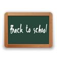 back to school on green blackboard vector image vector image