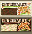 banners for cinco de mayo holiday vector image vector image