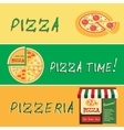 Banners of pizza design vector image vector image