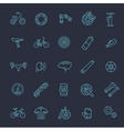 Bike tools and equipment part icon set vector image vector image