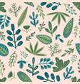 botanical seamless pattern design vector image vector image