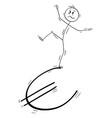 cartoon man or businessman balancing on vector image