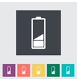 Charging the battery flat single icon vector image vector image