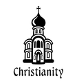 Christianity emblem or icon vector image