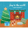 Christmas attributes Christmas gift card Joy to vector image vector image