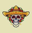cinco de mayo mexican skull vector image vector image