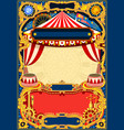 circus editable frame vector image vector image