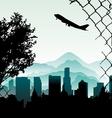 city illustration vector image
