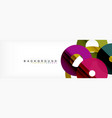 colorful rings on grey background modern vector image vector image
