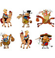 cowboys and bandits collection vector image vector image