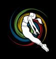 dancing girl dancer street dance freedom jump vector image