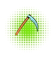 Death reaper icon comics style vector image vector image