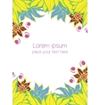 Design Template for Wedding Invitation Cosmetic vector image