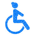 disabled woman grunge icon vector image vector image