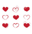 ed heart shape design elements vector image