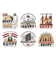 egyptian ancient pyramid gods travel landmark vector image