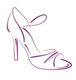 Elegant sketched woman s shoe vector image vector image