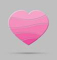 element pink heart pieces puzzle symbol love vector image vector image