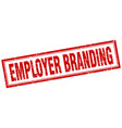 employer branding square stamp vector image vector image