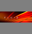 fluid color wave line background trendy abstract vector image vector image
