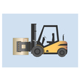 Forklift with paper roll clamp vector image vector image