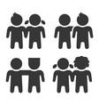 friendship and friend icons set on white vector image vector image