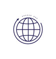 global networking icon outline style globe vector image