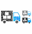 goods transportation car composition icon vector image vector image