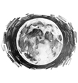 Graphic moon drawn by pencil vector image