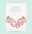 happy birthday text card vector image vector image