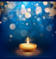 happy diwali burning diya holiday vector image vector image