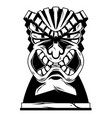 hawaii tribal angry tiki mask vector image