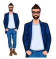 Hipster young guy vector image