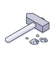 large hammer icon vector image