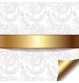 light floral background with gold ribbon eps 10 vector image