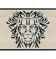 lion abstract tattoo vector image vector image