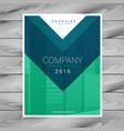 magazine cover page minimalistic design vector image vector image