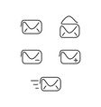 Mail set icons vector image vector image