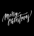 merry christmas hand drawn calligraphy modern vector image vector image