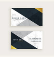 minimal style marble business card design vector image vector image