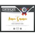 Modern certificate triangle shape background frame vector image vector image