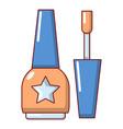 nail polish icon cartoon style vector image vector image