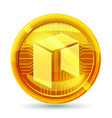 neo icon is a golden color crypto currency vector image vector image