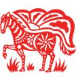 oriental horse vector image vector image